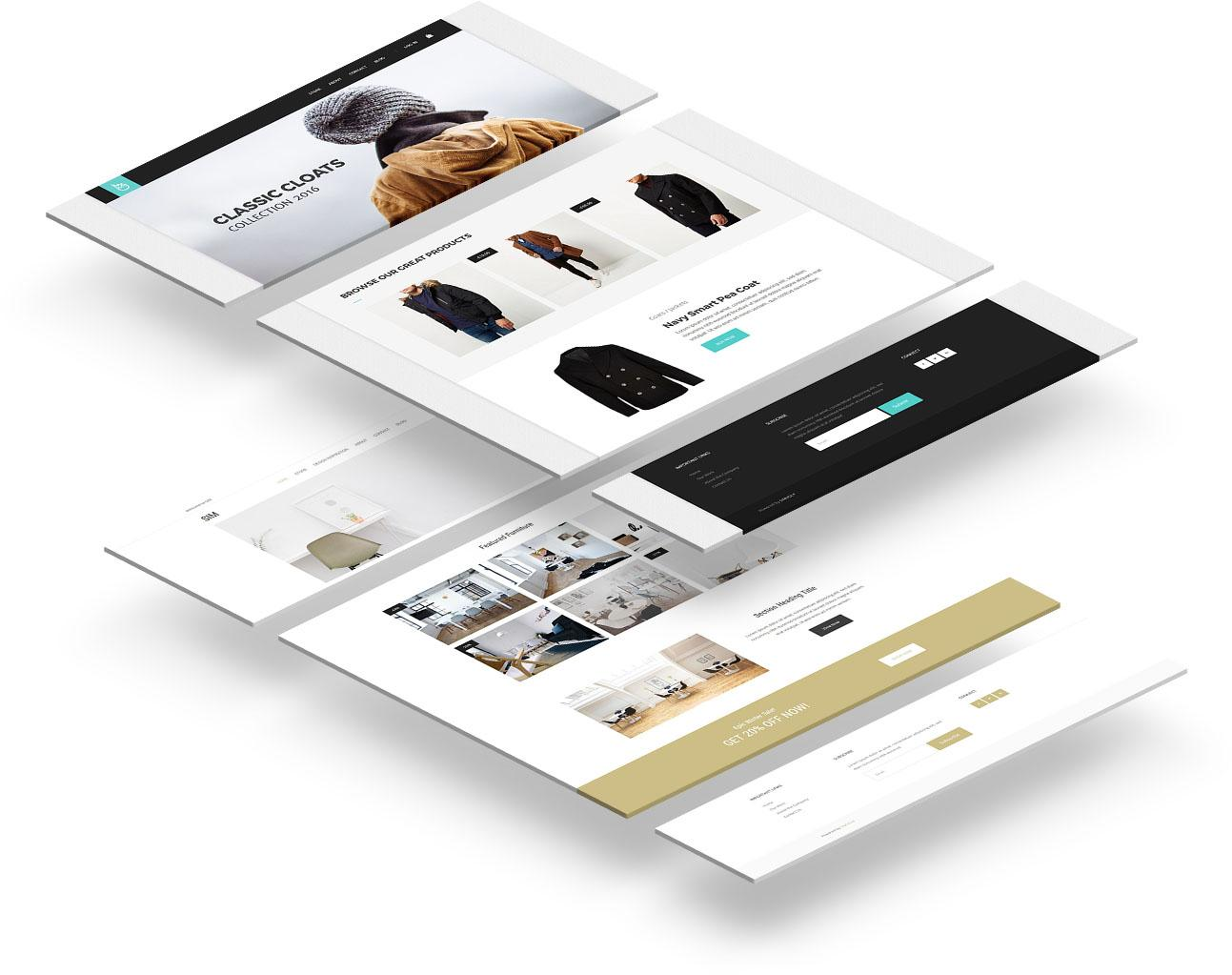 Simvoly online store templates