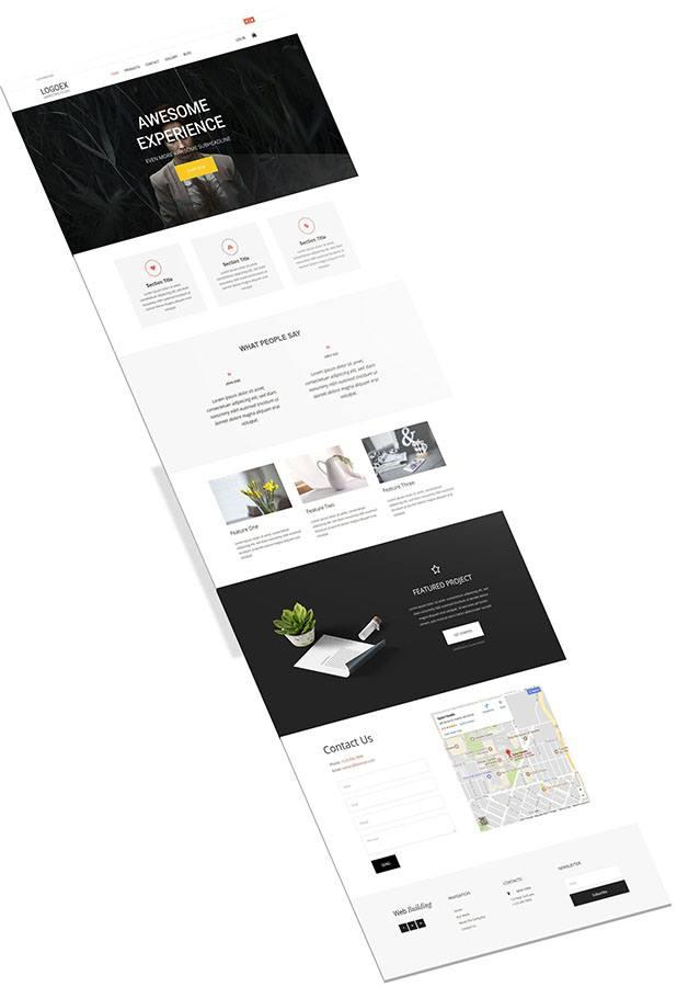 business website template generated
