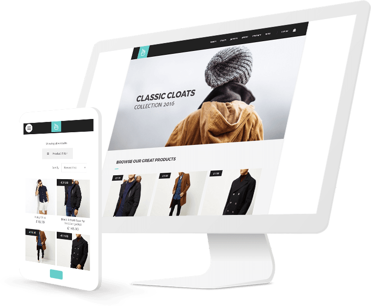Clothing store website design