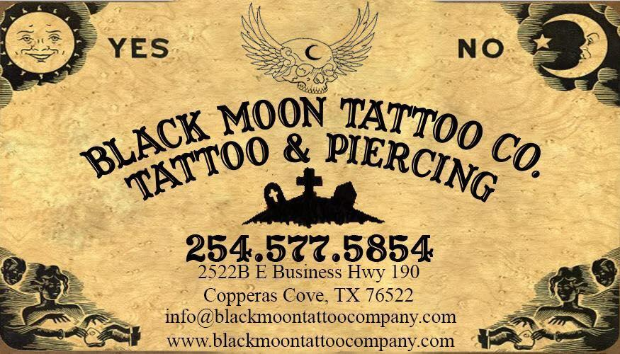 black moon tattoo company building in copperas cove, texas