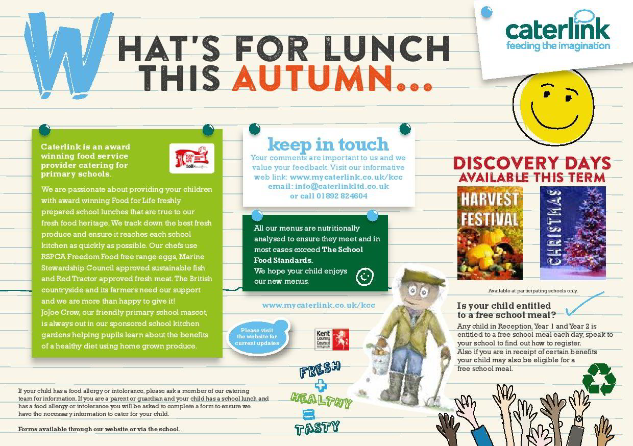 Orchard School Autumn Lunch Menu