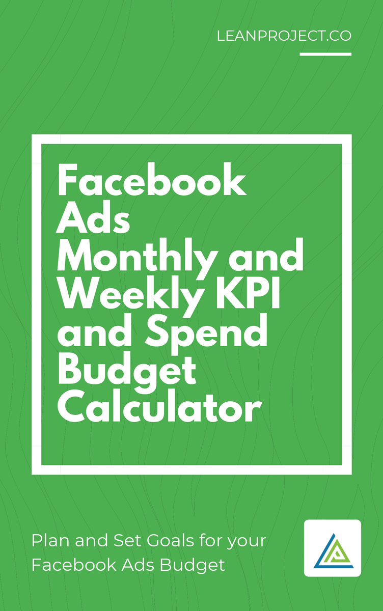 Plan your 30-day revenue goals and the required Facebook Ad budget to reach your goals. Plan weekly and monthly KPIs and ad spend