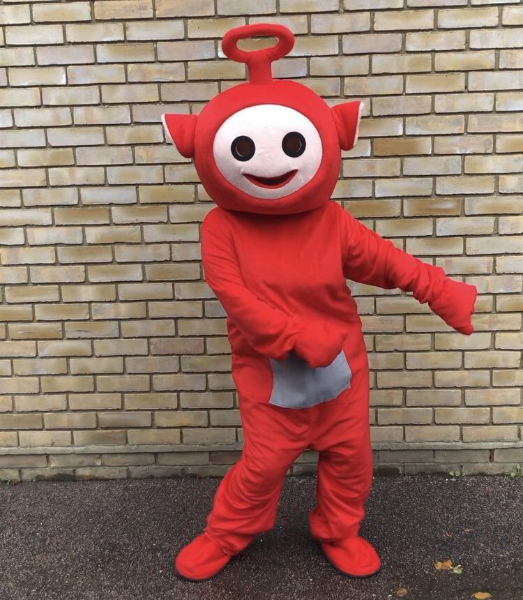 teletubbie, mascots, children's party, essex, little party monkeys, kent, london, hertfordshire