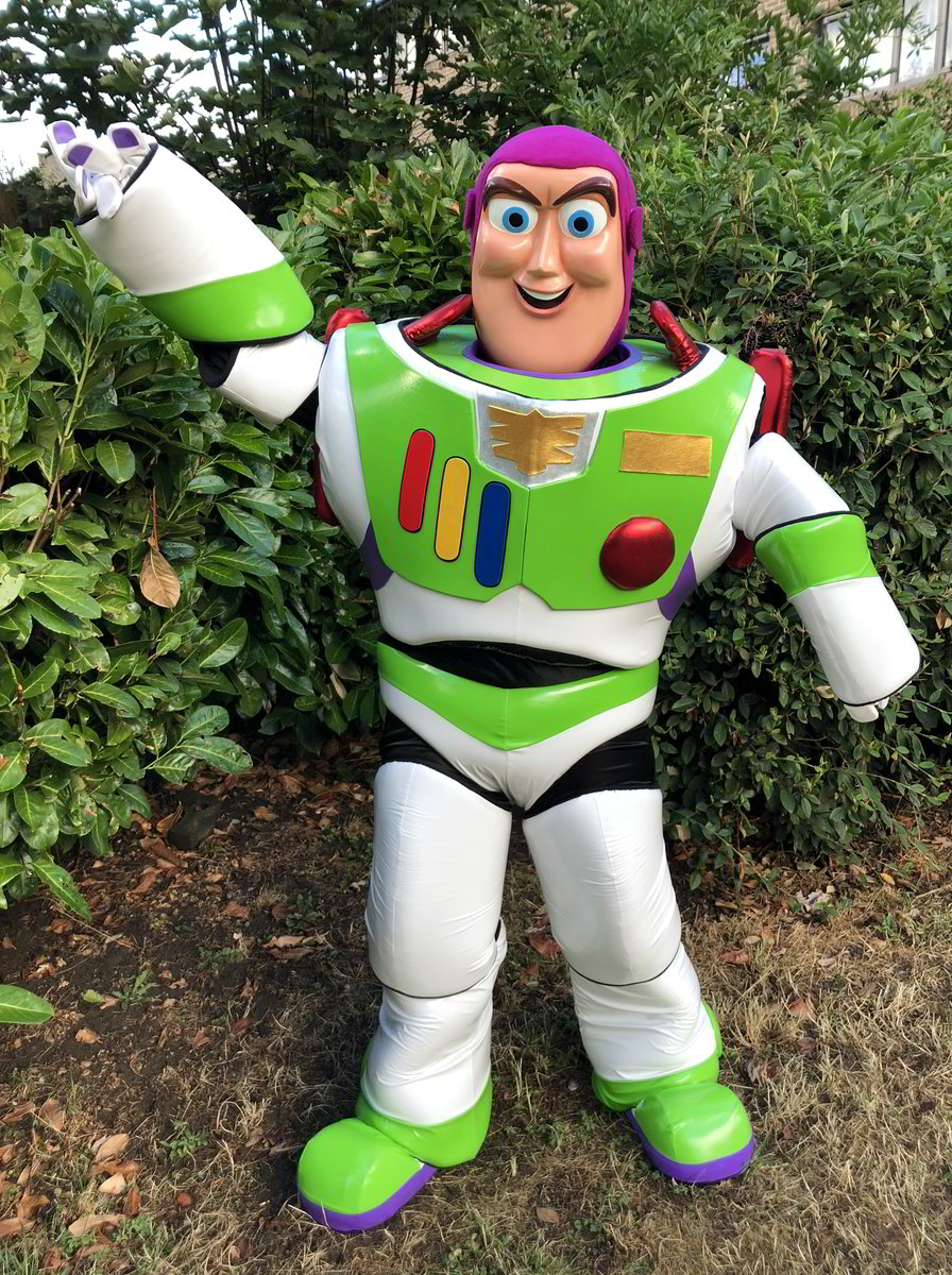 buzzlightyear, toy story mascot, little party monkeys, essex, london, kent, hertfordshire