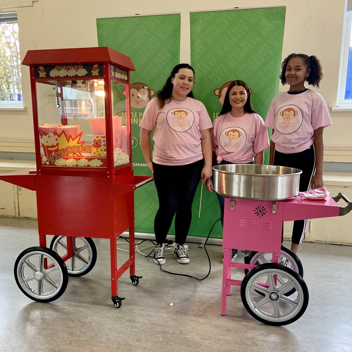popcorn and candy floss machine, london, essex, kent, hertfordshire, surrey