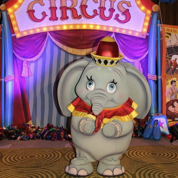 dumbo, mascots, essex, london, hertfordshire, kent, hire, characters