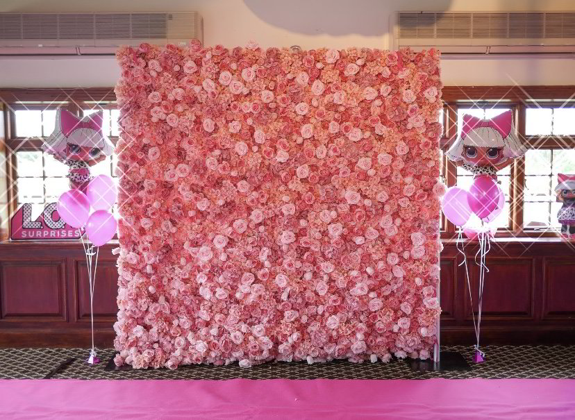 flower wall, kent ,chigwell, loughton, epping, baby shower,  little party monkeys