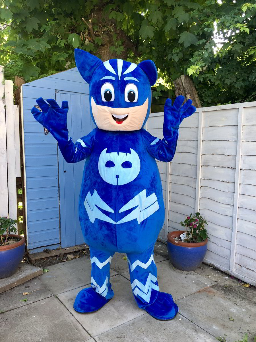 catboy, pj masks, super heroes, character mascots, essex, hertfordshire, london, kent, hire, little party monkeys