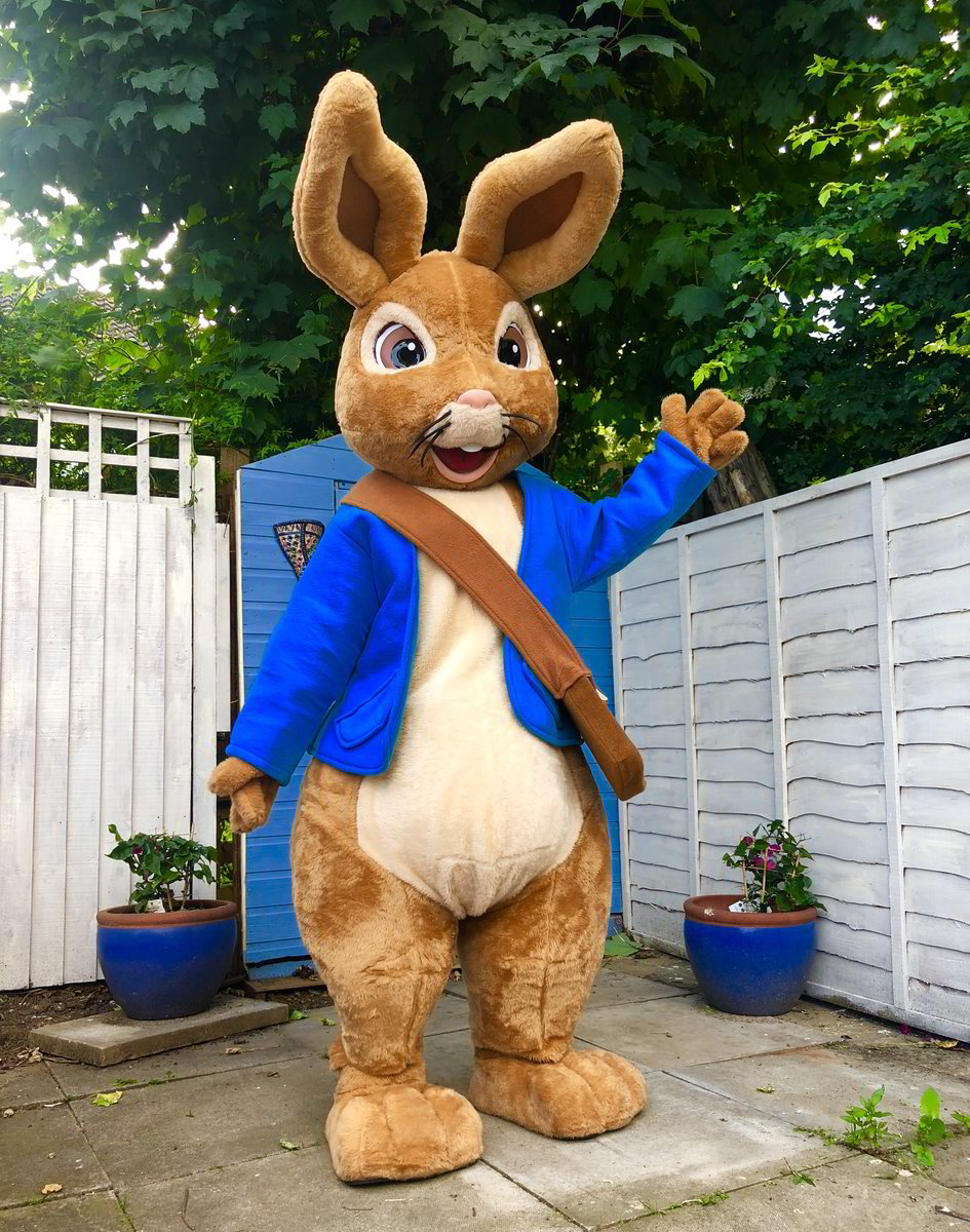 peter rabbit, character mascots, essex, hertfordshire, london, kent, hire, little party monkeys