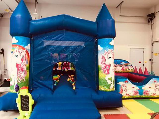 13' x 11' Unicorn Bouncy Castle + 7.5' x 6' Ball Pit Rental Package