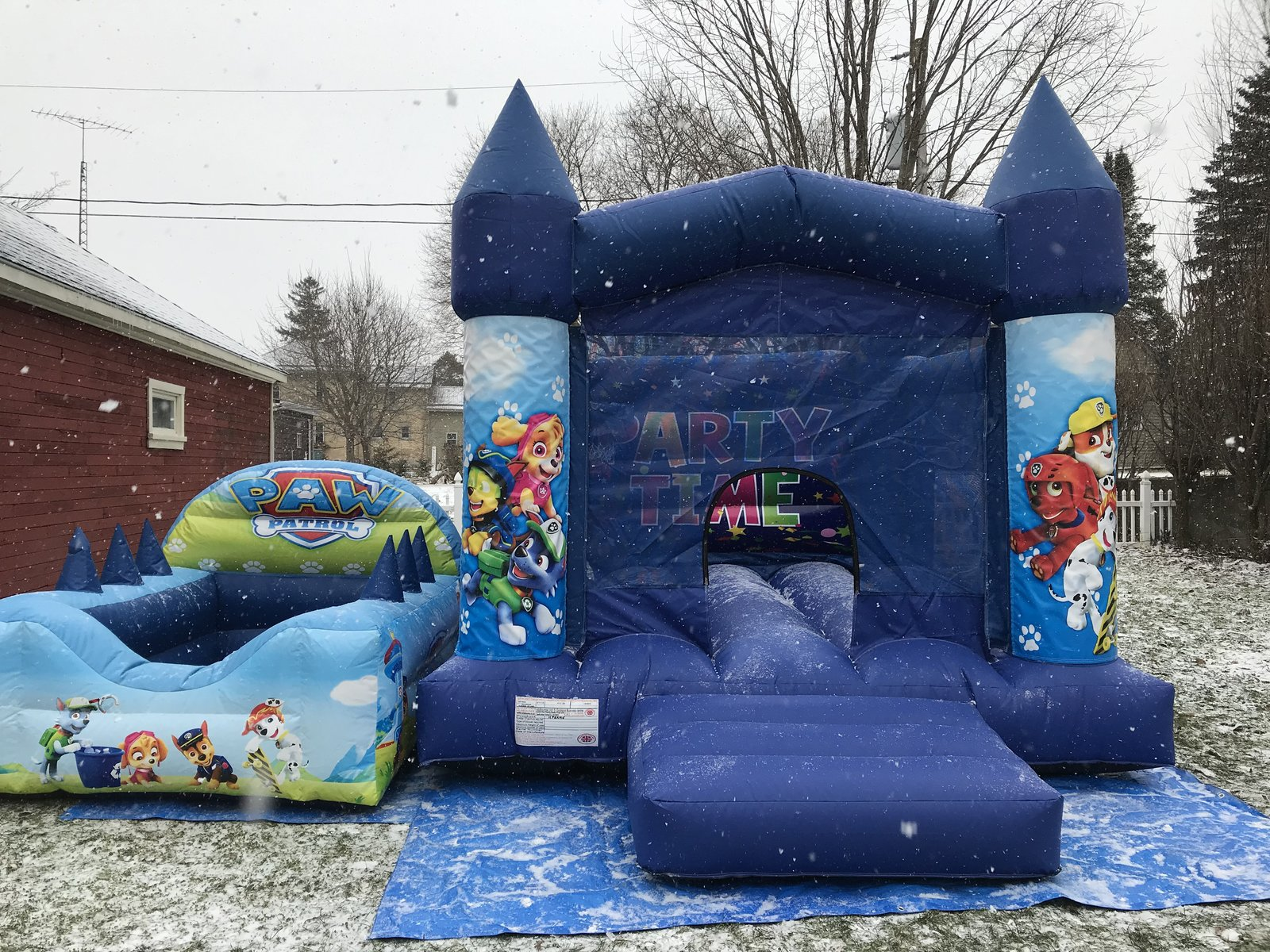 11' x 13' Paw Patrol Bouncy Castle + 7.5' x 6' Ball Pit Package