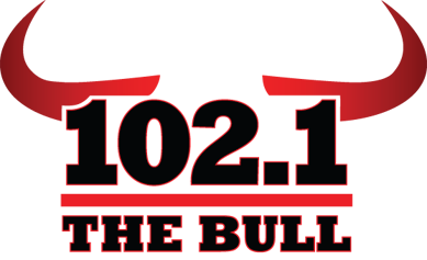 102.1 The Bull Radio Station Logo