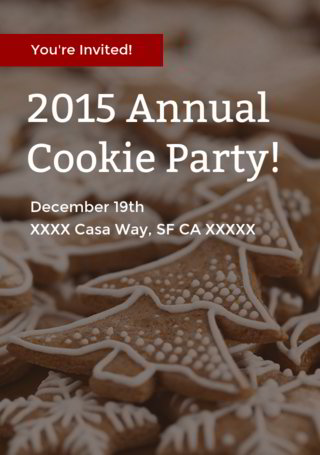 2015 Annual Cookie Party Wrap