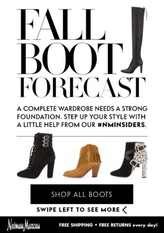 Nieman Marcus: Fall Boot Forecast