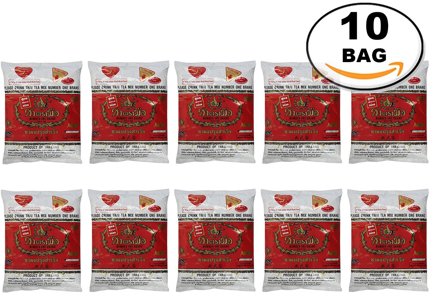 WHOLESALE 10 Bag Number One The Original Thai Iced Tea Mix - Number One  Brand Imported From Thailand - Great for Restaurants That Want to Serve
