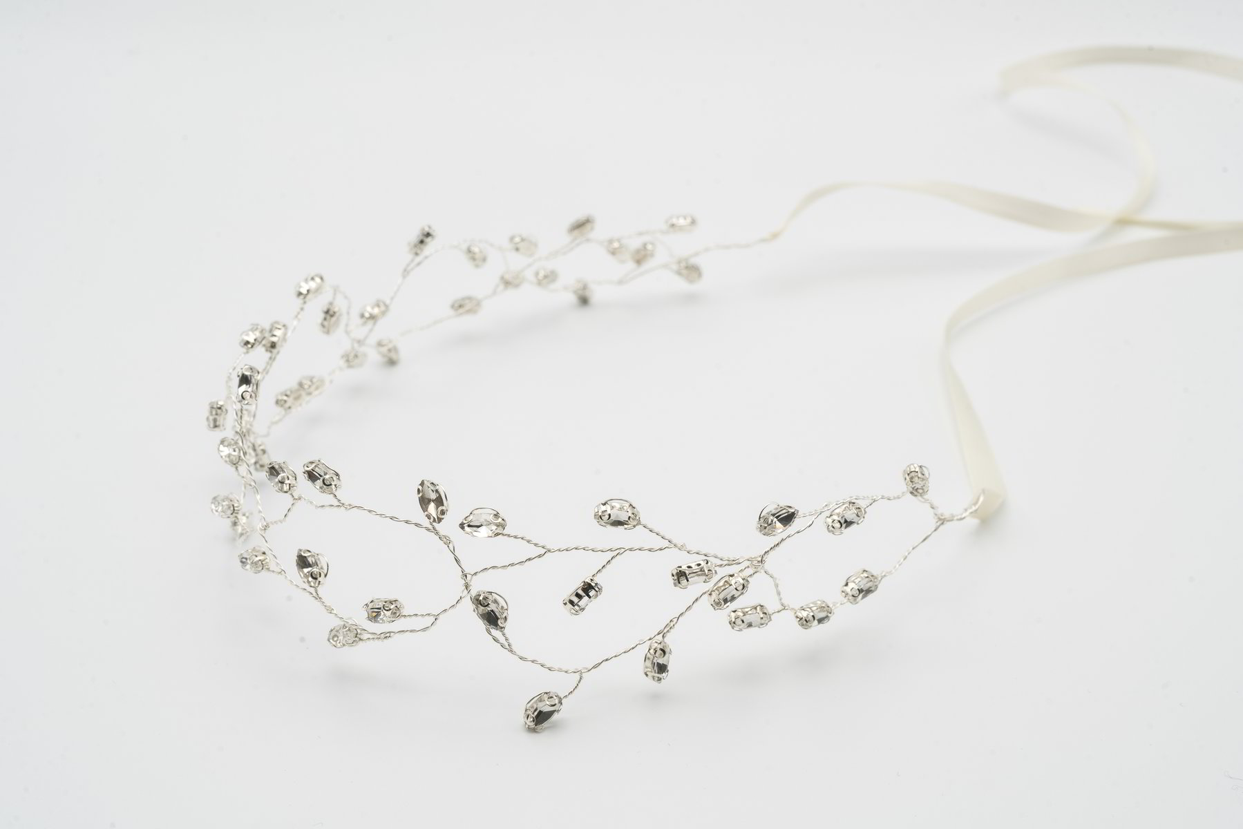 Intertwine Rhinestone Hair Vine in Silver