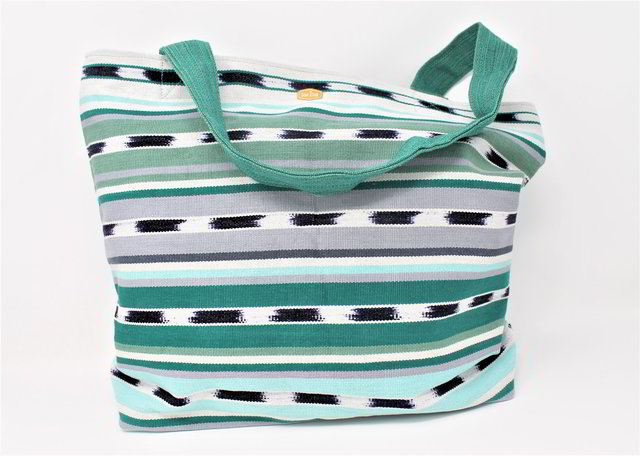 Zippered Tote / Quetzal Green
