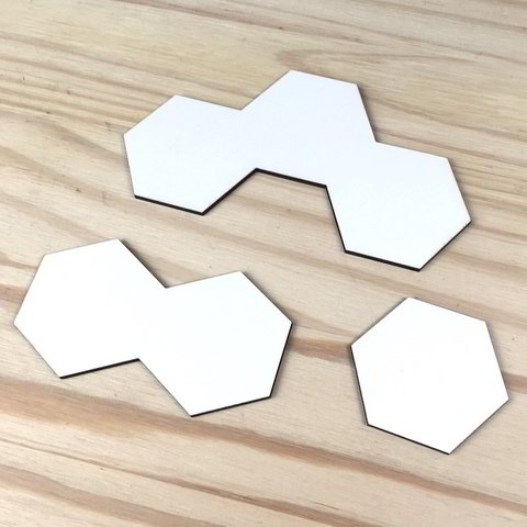 Kit de 3 socles Hexagonaux compatibles Shadespire
