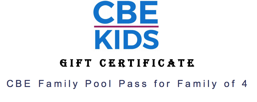Congregation Beth Elohim Family Pool Pass for Family of 4 worth $450