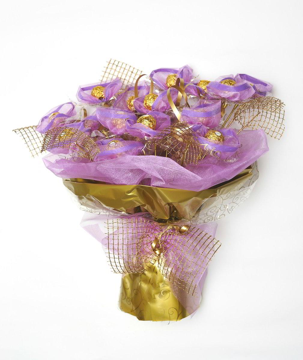 Populære Elegant buket med silke blomster DE-66