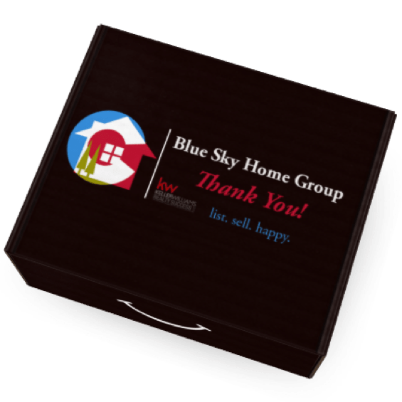Eva Branded Box for Blue Sky Home Group