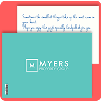 Eva Branded Postcard for Myers Property Group