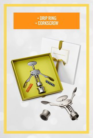 Corkscrew & Drip Ring Gift Set