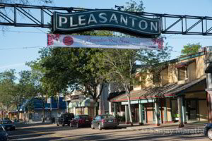 Fine art photography print of 'Downtown Pleasanton' in Vivid Colour by artist Sanjay Marathe.