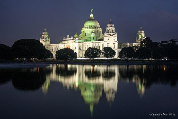 Title - 'Victoria Memorial', Kolkata. Fine art photography print of Kolkata Cityscapes series by artist Sanjay Marathe