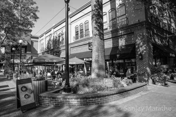 Fine art photography print of 'Peets Coffee' in Black & White by artist Sanjay Marathe.