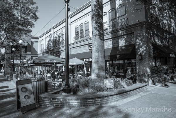 Fine art photography print of 'Peets Coffee' in Classic Black & White by artist Sanjay Marathe.
