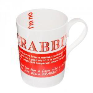 Crabbit China Mug, 'I'm a wee bit crabbit I took so long to find your online shop.'