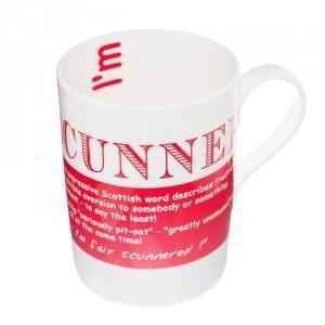 Scunner China Mug, 'I'm fair scunnered I didn't find your shop earlier'