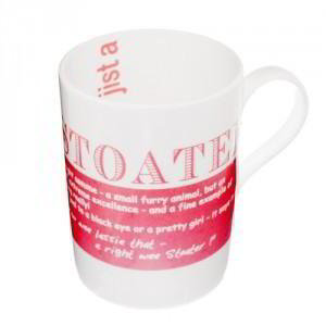 Stoater China Mug, 'That's a stoater of a shop, that cookshop'