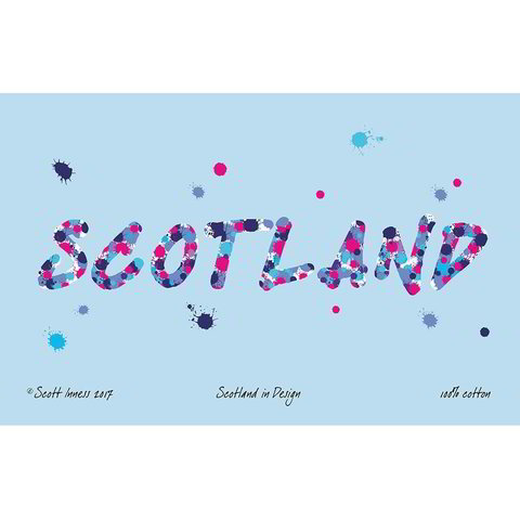 Scotland tea towel by Scott Inness