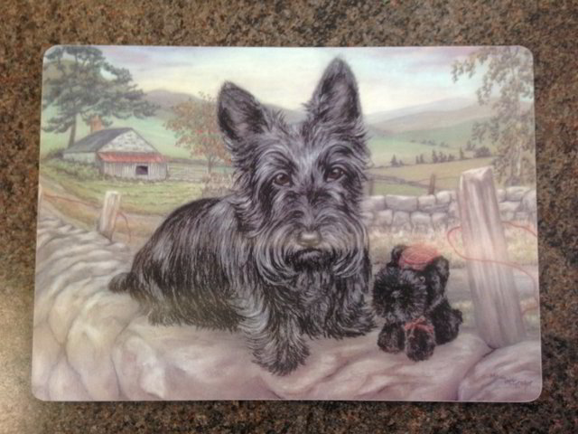 Scottie Dog table mats, Boxed set of 6, Made in Scotland