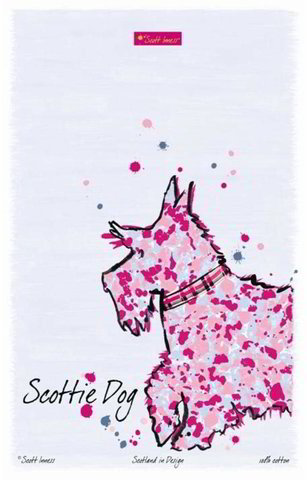 Scottie Dog tea towel by Scott Inness