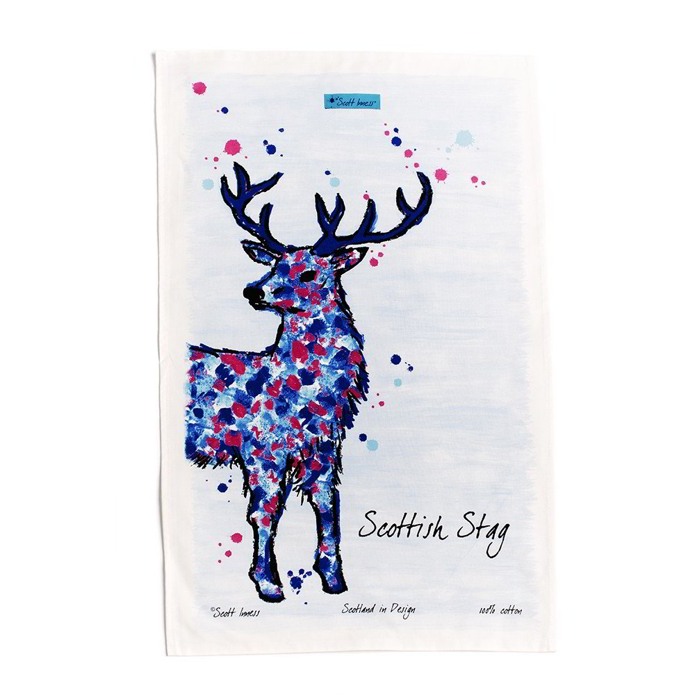 Scottish Stag tea towel by Scott Inness