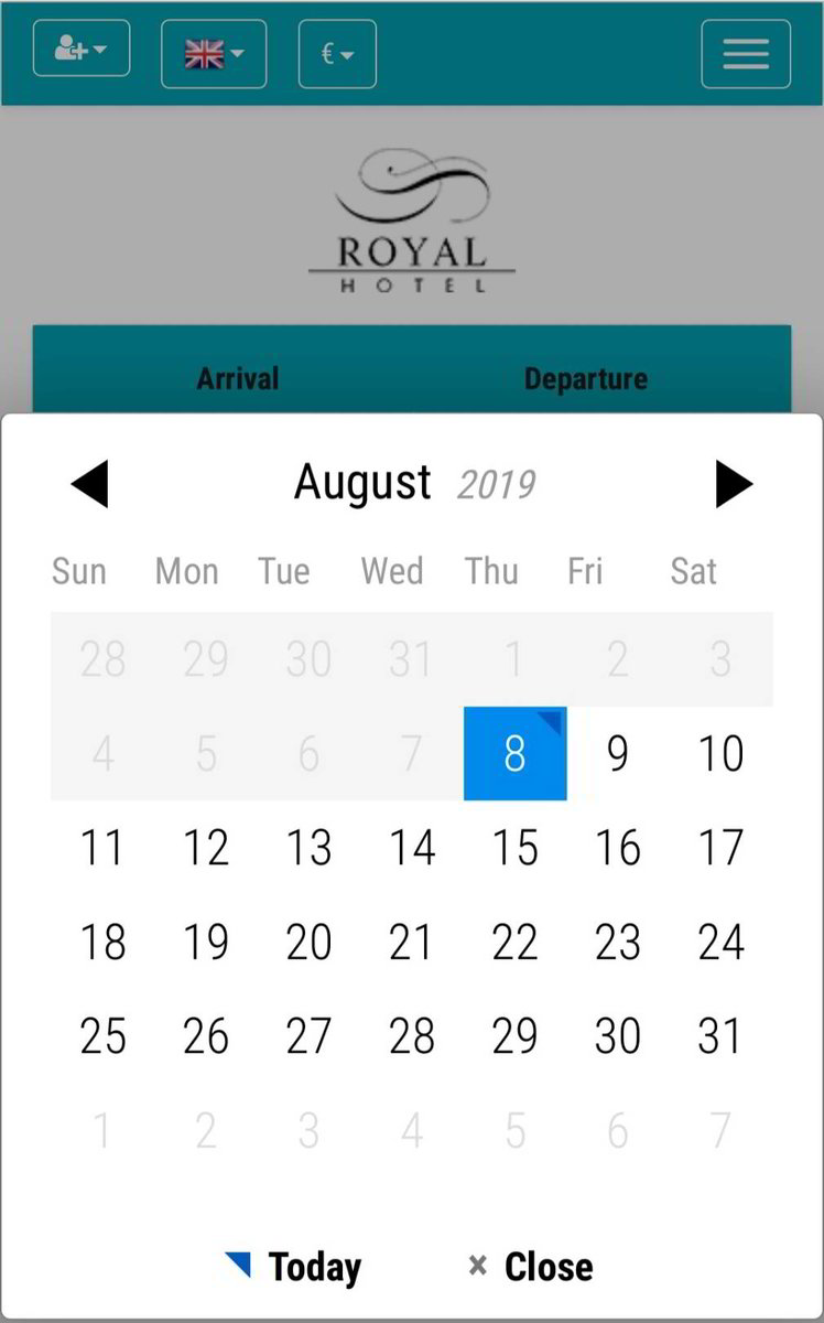 Booking Systems Calendar