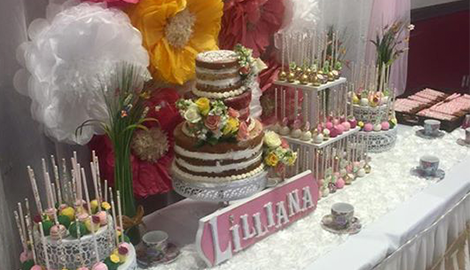 dessert catering table