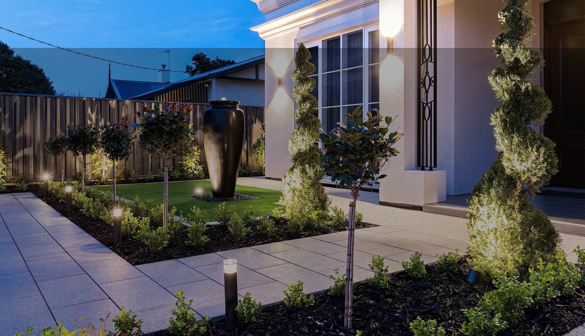 Image of: Landscaper Adelaide Landscape Gardeners Exposed Aggregate Concrete