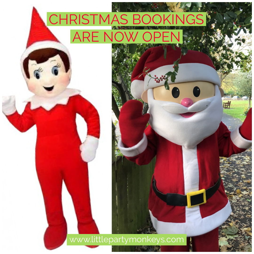 Christmas, Elf, Santa Visits, Elf Visits, London, Essex, Christmas, Mascots, Loughton, Chigwell, Romford, Brentwood, Wanstead, little Party Monkeys