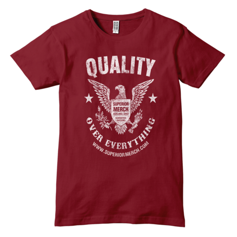 Quality Over Everything - Vintage Eagle T-Shirt