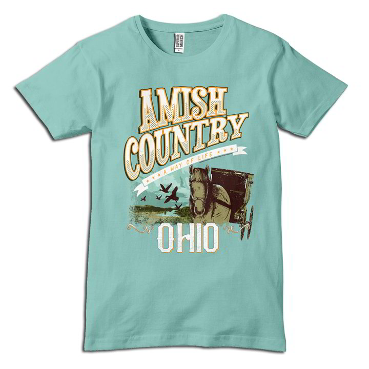 Ohio Amish Country Horse & Buggy T-Shirt
