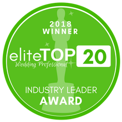 eliteWeddingGuide.com Top 20 2018 Industry Leader Winner