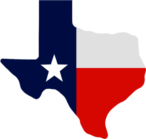 Central Texas Map Flag