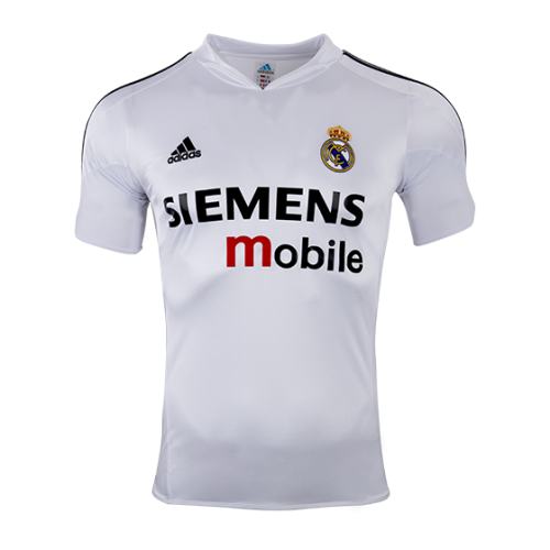 Real Madrid Home Classic Retro Soccer Jersey Shirt 04 05