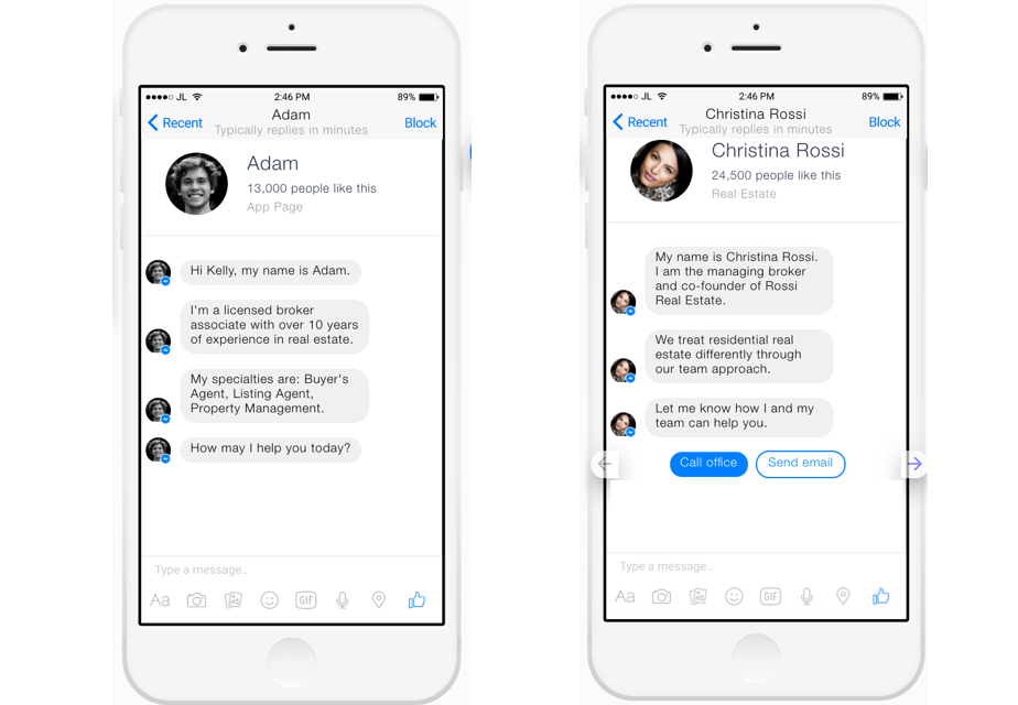 Real Estate Agent Chat Bot on Facebook Messenger