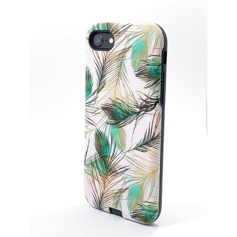 Peacock Feather UV Print Hybrid Case