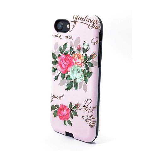 Pink Flower UV Print Hybrid Case
